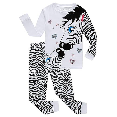 KikizYe Little Big Girls Long Sleeve Pajama Sets 100/% Cotton Pjs