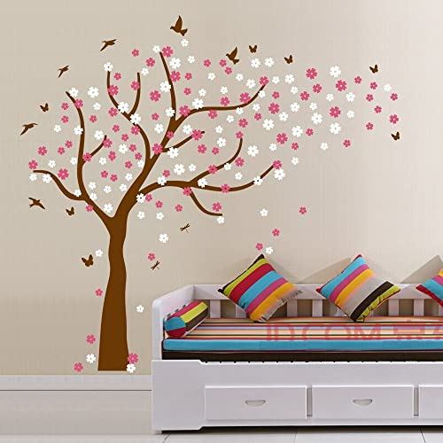 Buy Family Tree Wall Decals Colorful Cherry Blossom Tree With Butterflies And Birds Wall Decals Wall Stickers For Nursery Baby Living Room Home Decor Online In Kuwait B01lxgvk6j