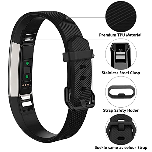 Vitty for Fitbit Alta//Alta HR Wrist Straps for Women and Men Fitbit Alta//Alta Bands Adjustable Replacement Silicone Sport Wristband for Fitbit Alta//Alta HR