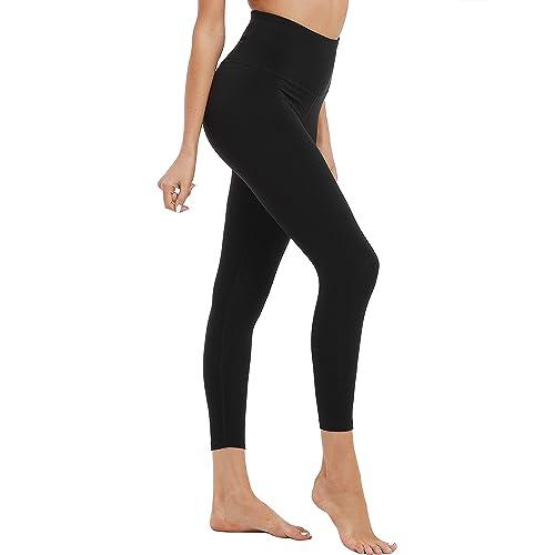 319a4f18b6ec4 Hopgo Women's High Waisted Workout Leggings Back Innner Pocket Yoga Pants  Tummy Control Capri Tights