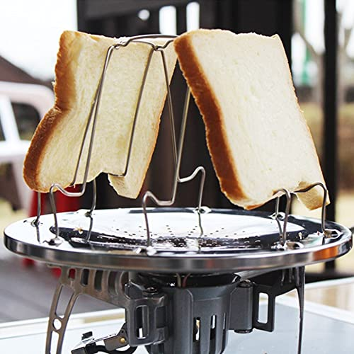 VGEBY Foldable Toaster Rack 4 Slice Sandwich Breakfast Stove Plate for Camping Hiking