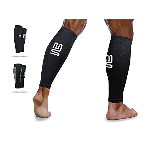 NV Compression Elbow Sleeve//Support Pair - Black//Red, Medium Single or Pair Workouts Essential Race /& Recover Premium Sleeve for Tennis and Golfers Elbow Weightlifting Tendonitis Arthritis