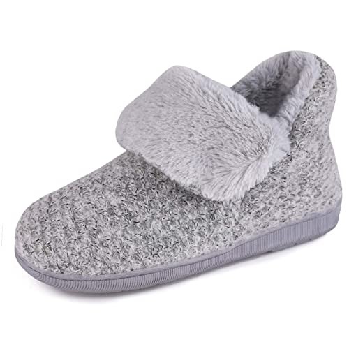 Ladies/' Bootie Slippers Memory Foam Indoor /& Outdoor Plush Lining Shoes with Non