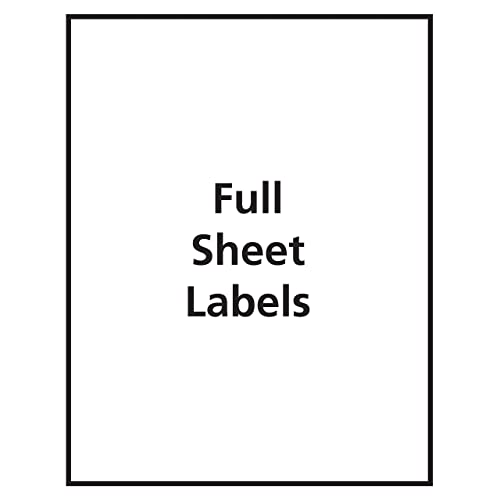 Avery Matte Frosted Clear Full Sheet Labels for Inkjet Printers 8665 25 Labels 8.5 x 11