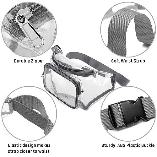 Cansenty Women Transparent Waist Bag PVC Fanny Hip Packs Girls Phone Pouch Chest Purse