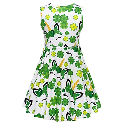 JESKIDS Little Girls Unicorn Dress Sleeveless Casual Twirl Dresses