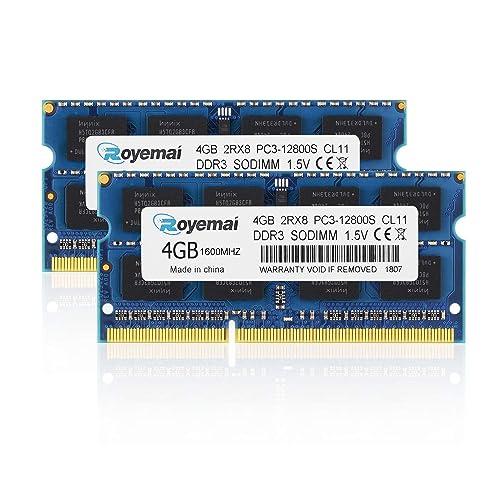 Crucial 8GB 2RX8 PC3-12800S DDR3 1600MHz 204pin Sodimm Laptop Memory RAM Intel /&