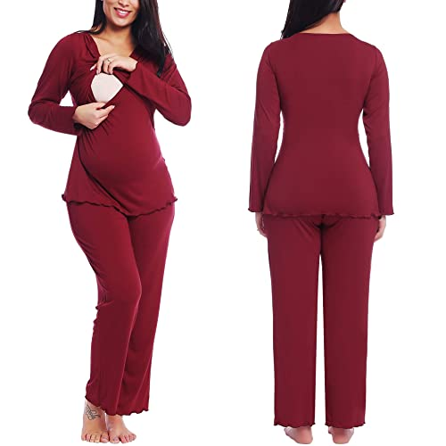 Amorbella Soft Bamboo Maternity Lounge//Pajama//Sleep Pants for Pregnant Women