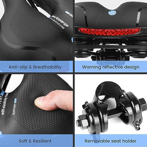 Bike Seat Comfortable Bicycle Seat Replacement Soft Memory Foam Storage Bag