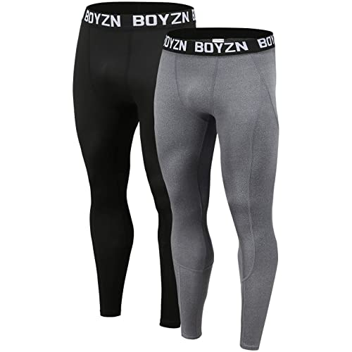 Yuerlian Mens Compression 3//4 Capri Shorts Baselayer Cool Dry Tights Leggings Sports Tights 3 Pack