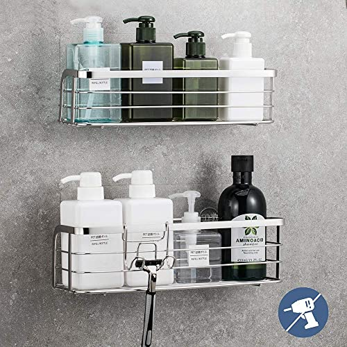 Luxear 2 Pack Shower Caddy With Hook