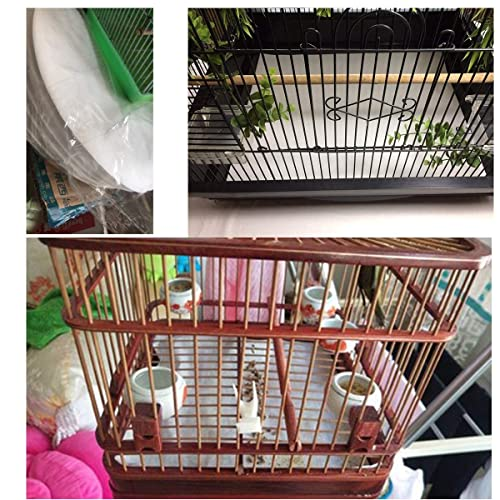 Parrot Pet Cages Cushion Pad Mat Accessories Round-200 Sheets Bonaweite Disposable Non-Woven Bird Cage Liners Papers