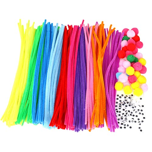300 Pieces Pipe Cleaners Soft Chenille Stem for Valentines Wedding Party DIY Art Crafts Decorations