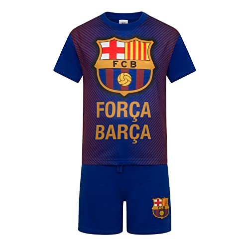 FC Barcelona Official Football Gift 3 Pack Boys Crest Boxer Shorts