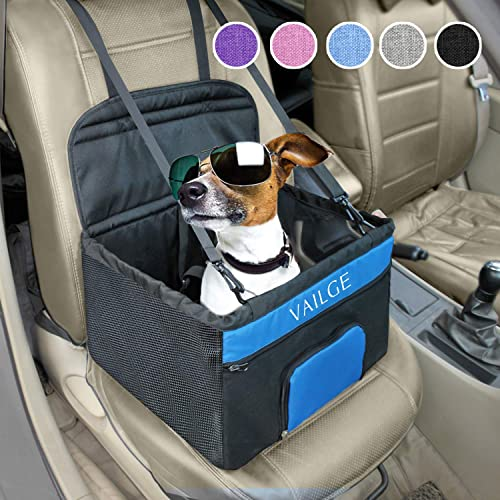 Ukmaster Pet Car Booster Seat Travel Protector 3 in 1 Anti-Water Removable Washable Dogs Car chair Pad Soft comfort Cushion Seat Black Medium Car pet seat with Safety Belt