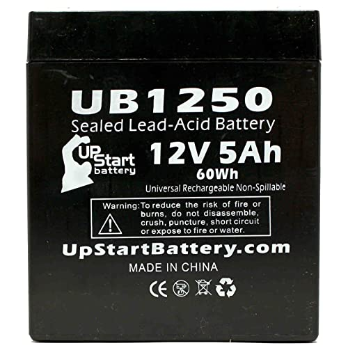 Compatible with LICHPOWER DJW6-12 Lichpower Djw6-12, 2x Pack Exitronix Ex6v1.2a UB613 Universal Sealed Lead Acid Battery Replacement Casil//Chee Yuen Industrial Ca613 - Includes 4 F1 to F2 Terminal Adapters 6V, 1.3Ah, 1300mAh, F1 Terminal, AGM, SLA