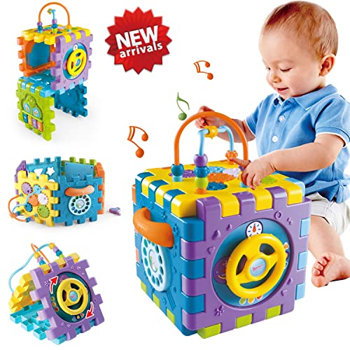 ACTRINIC Baby Musical Toys 12-18months Drums Piano Musical Instrument,Learning and Development Early Educational Game With Light //Music Gift toys for 1 2 3 year old Girls Boys //Toddlers