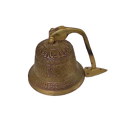 Buy Parijat Handicraft Outdoor Dinner Embossed Bells Made Of Brass Bracket Mounts Bell To Both Indoor Outdoor Wall Surfaces 5 Inch Online In Kuwait B081dlqstj