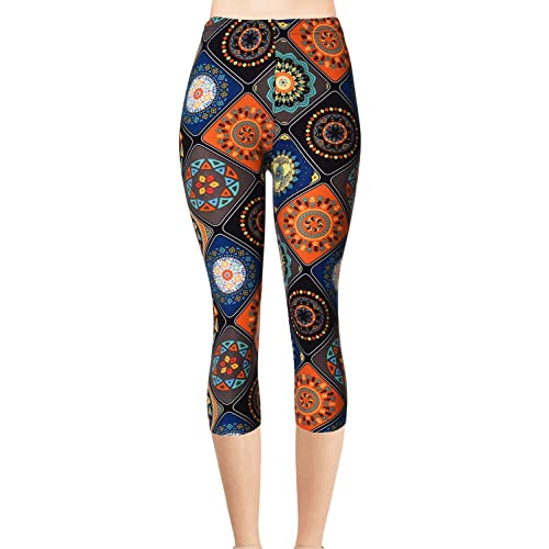 VIV Collection Printed Brushed Leggings Shadow Houndstooth