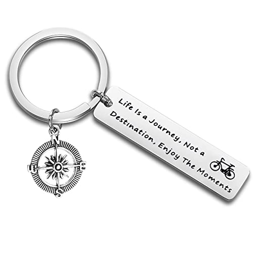 Amorly Key Chain with Rubber Strap Home Office Outdoor Car Keychain with Key Ring Key Holder for Men and Women
