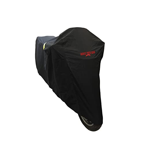 """Heavy Duty 97/"""" Fits Cruisers, Touring Bikes Night Reflective Windshield Liner LARGE Taped Seams Vents Badass Moto Gear All Wx Ultimate Waterproof Motorcycle Cover Heat Shield Lock Pockets"""