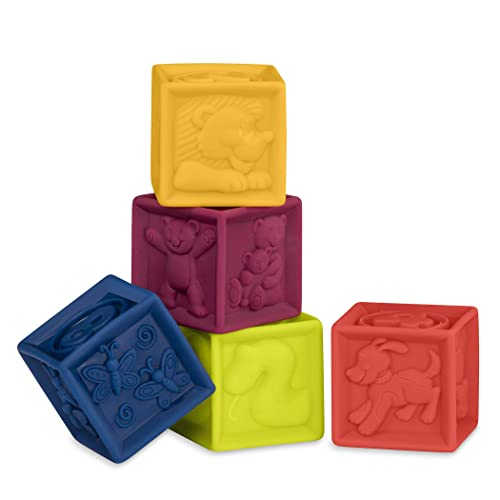 Elemenosqueeze chewable blocks for baby and toddlers by B Battat