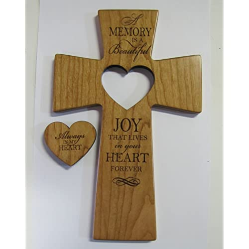 Buy Lifesong Milestones Memorial Wall Cross Always In My Heart With Wooden Heart Cut Out Online In Kuwait B00gfy7kxu