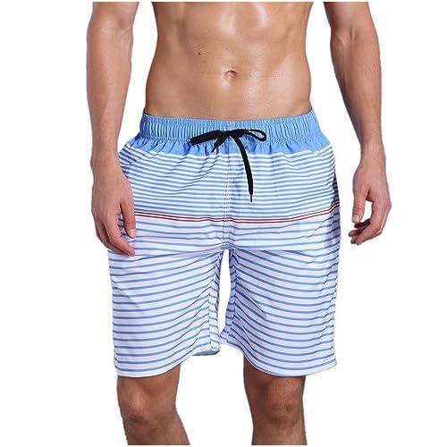Mens Peach Blossom Summer Holiday Quick-Drying Swim Trunks Beach Shorts Board Shorts