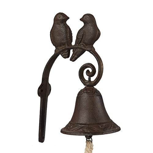 Buy Juvale Rustic Cast Iron Love Birds Door Bell Decorative Vintage Antique Farmhouse Style Decoration For Outside House 4 5 X 8 5 X 1 5 Inches Online In Kuwait B07dpnc9f2