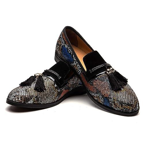 Mens Embroidered Flower Pattern Velvet Noble Loafer Dress Nightclub Shoes  43