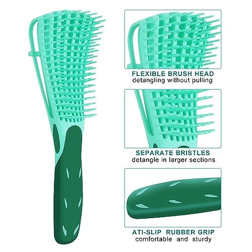 2 Pack EZ Detangler Brush for Natural Hair-Detangler for Afro Hair ...