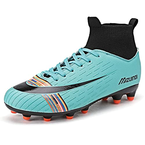 6.5 UK White Donbest Mens Football Boots Cleats Professional Spikes Soccer Shoes Competition//Training Boys Sneakers