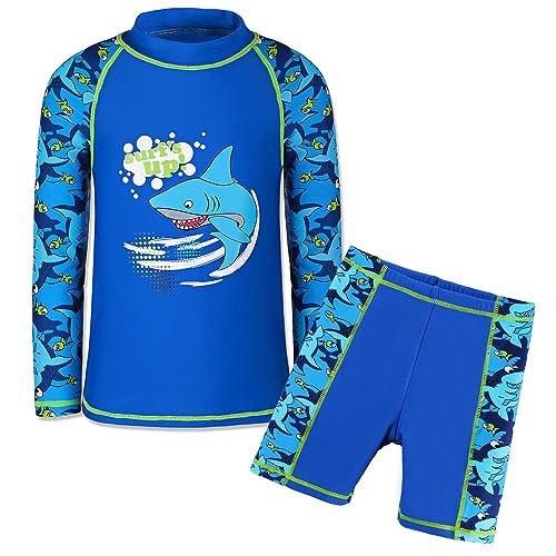 UV Swimwear Sun Protective Long Sleeve Two Piece Swimsuit TFJH E Kids Boys UPF 50
