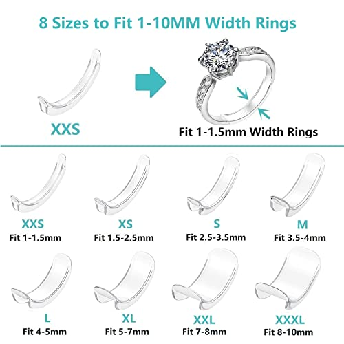 Pantipinky Ring Spacer for Loose Rings Size Adjuster Invisible Ring Guards Sizer Reducer 61pcs in 2 Type