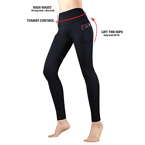 Emimarol Women High Waist Out Pocket Printed Yoga Pants Tummy Control Beading & Jewelry Making