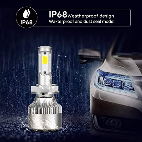 H11 LED Headlight Bulbs,Snorda 72W 6000K 8000 Lumens Extremely Penetrating Light,H8 H9 CSP Chips Conversion Kit