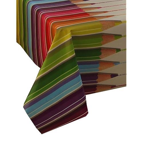 Orange Polka Dots By TheFabircTrade Wipe Clean PVC Tablecloth Oilcloth 200x140cm Vinyl