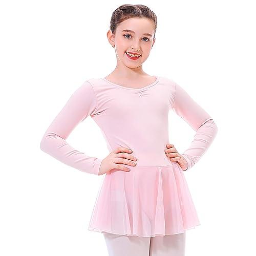 Zaclotre Ballet Leotards for Girls Long Sleeve Toddler Dance Leotard