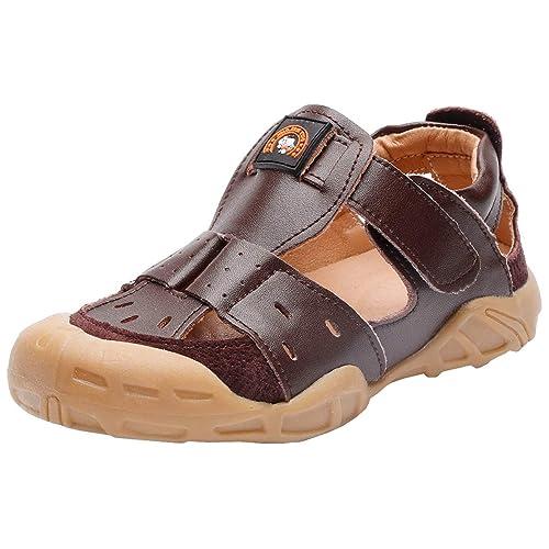 DADAWEN Boys Girls Summer Outdoor Breathable Athletic Bump Toe Strap Sport Sandals Toddler//Little Kid//Big Kid