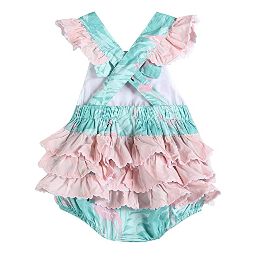 Lil Cactus Baby /& Toddler Girls Ruffled One Piece Bubble Romper