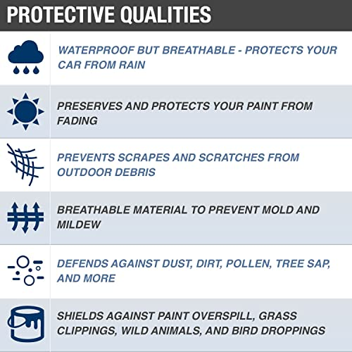 WaterproofBreathable Budge Rain Barrier Car Cover Fits Ford Thunderbird 1955