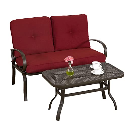 Buy Homevibes 2 Pieces Outdoor Loveseat Patio Love Seat Furniture
