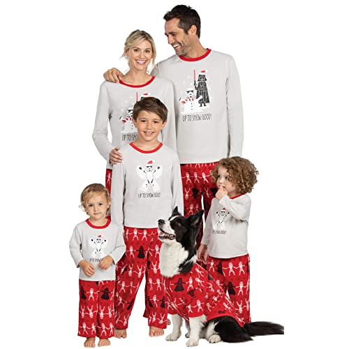 Adult Star Wars Darth Vader Tropper Holiday Red and White 2 Piece Pajama Set