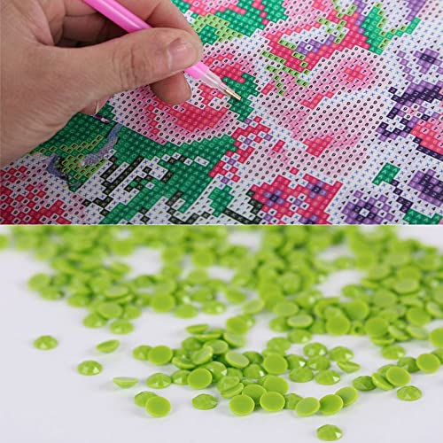 MXJSUA DIY 5D Diamond Painting Full Square Drill Kits Rhinestone Picture Art Craft for Home Wall Decor 12x16In Parrot
