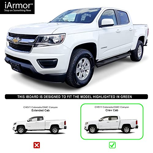 402219 Ionic 5 Stainless Steel Oval Nerf Bars fits 2007-2018 Chevy Silverado GMC Sierra Crew Cab Only Rocker Mount Truck Side Steps