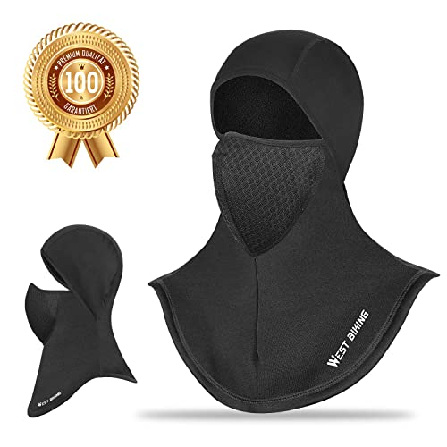 Ski Mask Wind-Resistant Full Face Cover Black MoKo Balaclava Face Mask for Men Women Motorcycling Cycling Thermal Cold Weather Face Mask Scarf for Skiing Breathable UV Protection Face Mask Hat