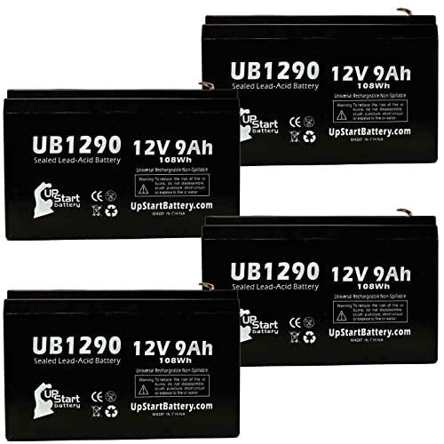 Replacement UB1213 Universal Sealed Lead Acid Battery Replacement for Werker WKA12-1.3F Battery 12V, 1.3Ah, 1300mAh, F1 Terminal, AGM, SLA - Includes Two F1 to F2 Terminal Adapters