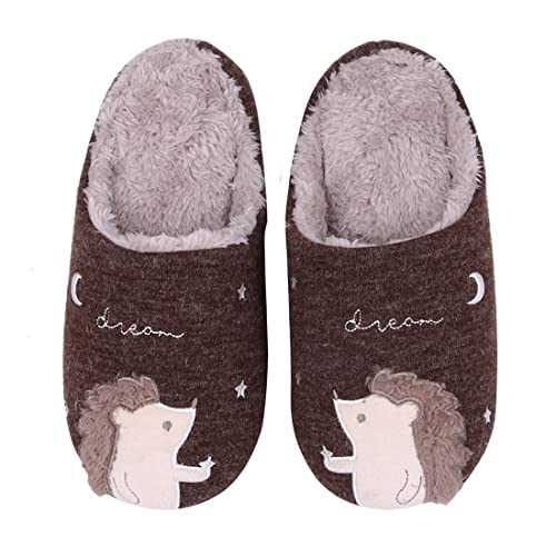 582ae8d56 Buy Cute Animal House Slippers Fuzzy Hedgehog Bedroom Slippers Waterproof  Sole Indoor Outdoor Slippers for Big Kids with Ubuy Kuwait. B07P6FK58R