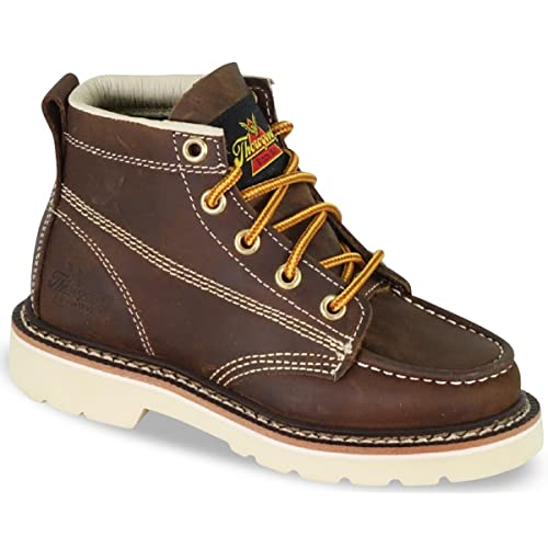 Thorogood Unisex Youth Mud Brown Jackson Leather Lace-Up Work Boots