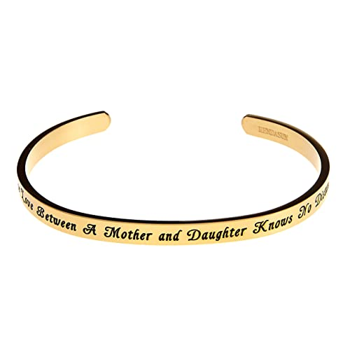 Yiyang Love Cuff Bangle Bracelet Jewelry Gift for Friends Mom Mother Wife Family Quote I Love You More